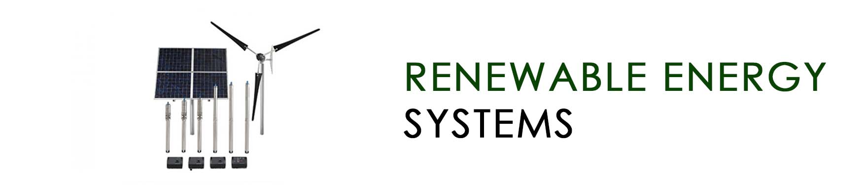 Renewable energy systems BANNER